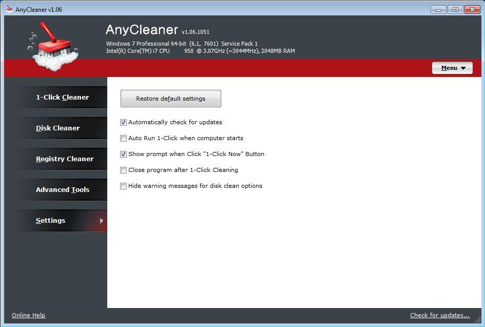 Vorschau AnyCleaner - Bild 2