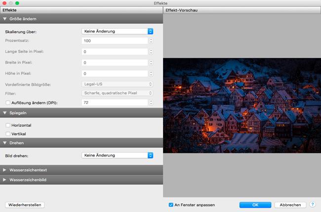 Vorschau Pixillion Bildkonverter Mac - Bild 2