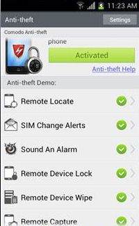 Vorschau Comodo Anti Theft for Android - Bild 2