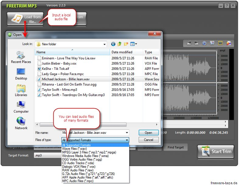 Vorschau FreeTrim MP3 - Bild 2