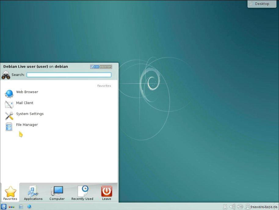 Vorschau Debian Live System KDE - Bild 2