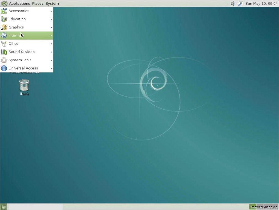 Vorschau Debian Live System MATE - Bild 2