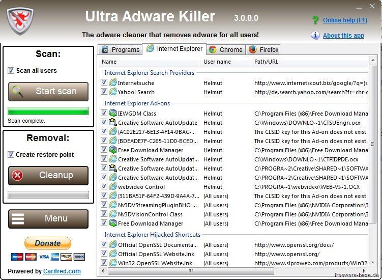 Vorschau Ultra Adware Killer - Bild 2