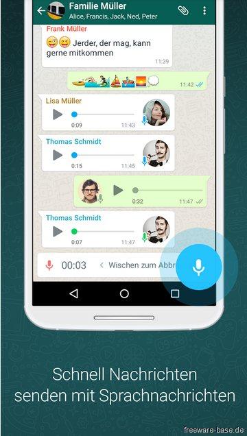 Vorschau WhatsApp Messenger for Android - Bild 2