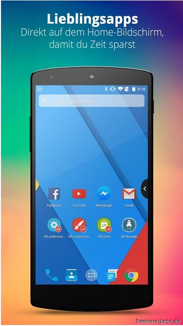 Vorschau UR 3D Launcher fuer Android - Bild 2