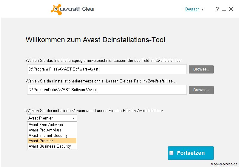Vorschau Avast Clear - AVAST Software Uninstall Utility - Bild 2