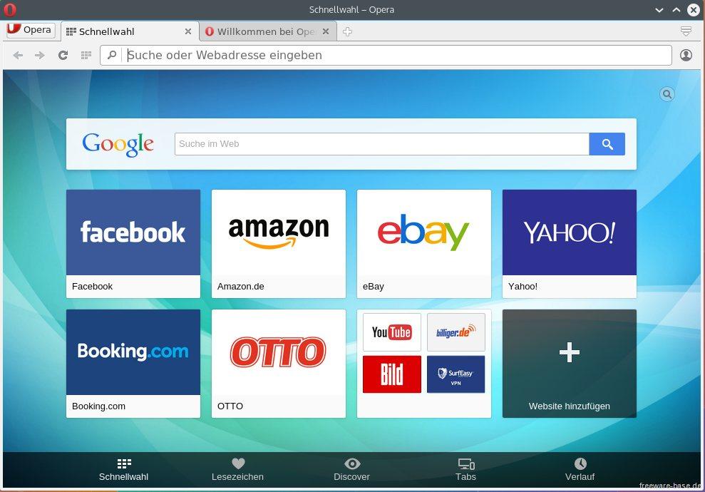 Vorschau Opera für Linux - Bild 2