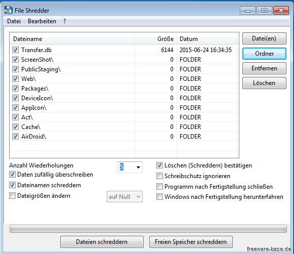 Vorschau Alternate File Shredder - Bild 2