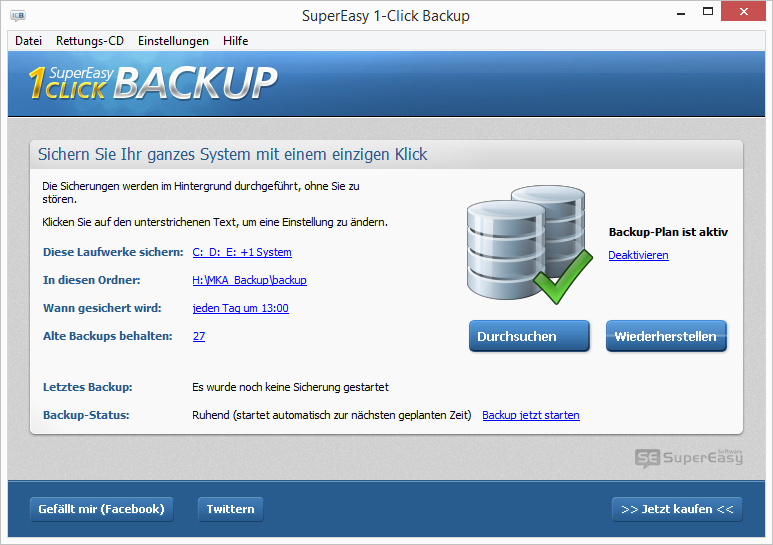 Vorschau SuperEasy 1-Click Backup - Bild 2