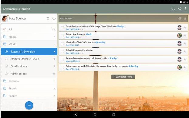 Vorschau Wunderlist für Android und iPhone iPad  - Bild 2