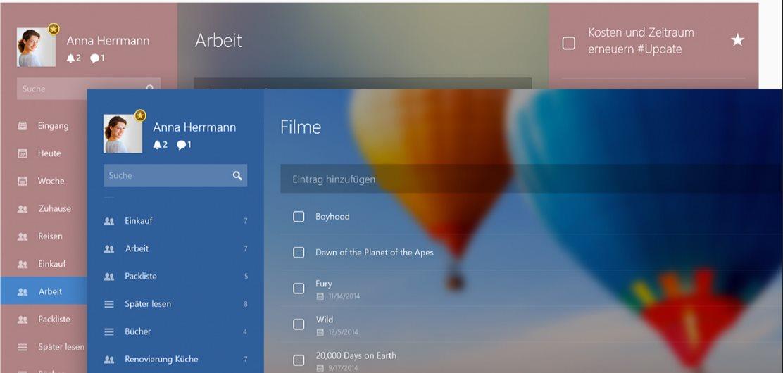 Vorschau Wunderlist fuer Windows - Bild 2