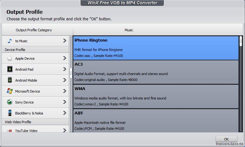Vorschau WinX Free VOB to MP4 Converter - Bild 2