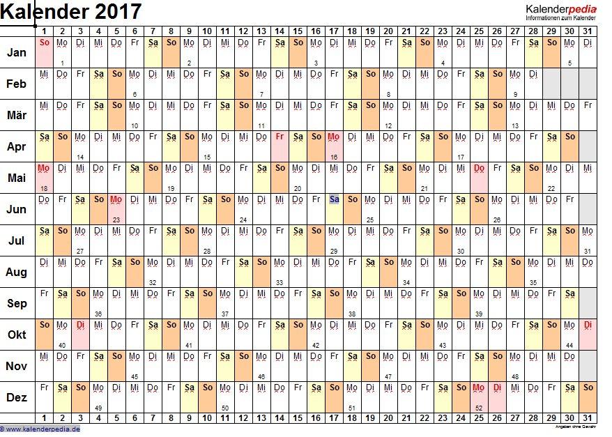 Vorschau Excel Kalender Paket - Bild 2