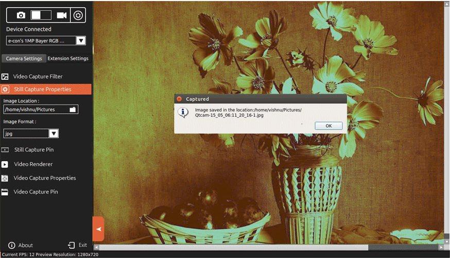 Vorschau QtCAM fuer Linux - Bild 2