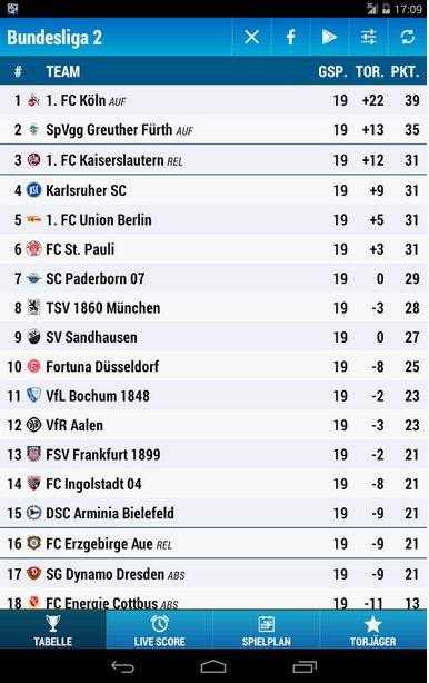 Vorschau Bundesliga 2 für Android - Bild 2