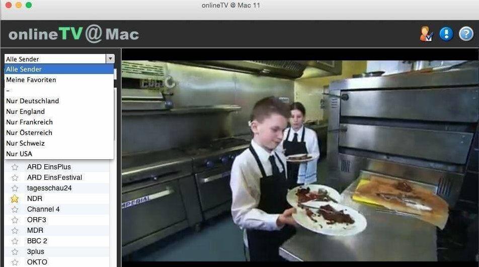 Vorschau onlineTV fuer Mac OS - Bild 2