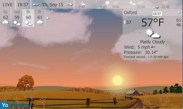 Vorschau YoWindow Wetter für Google Chrome - Bild 2