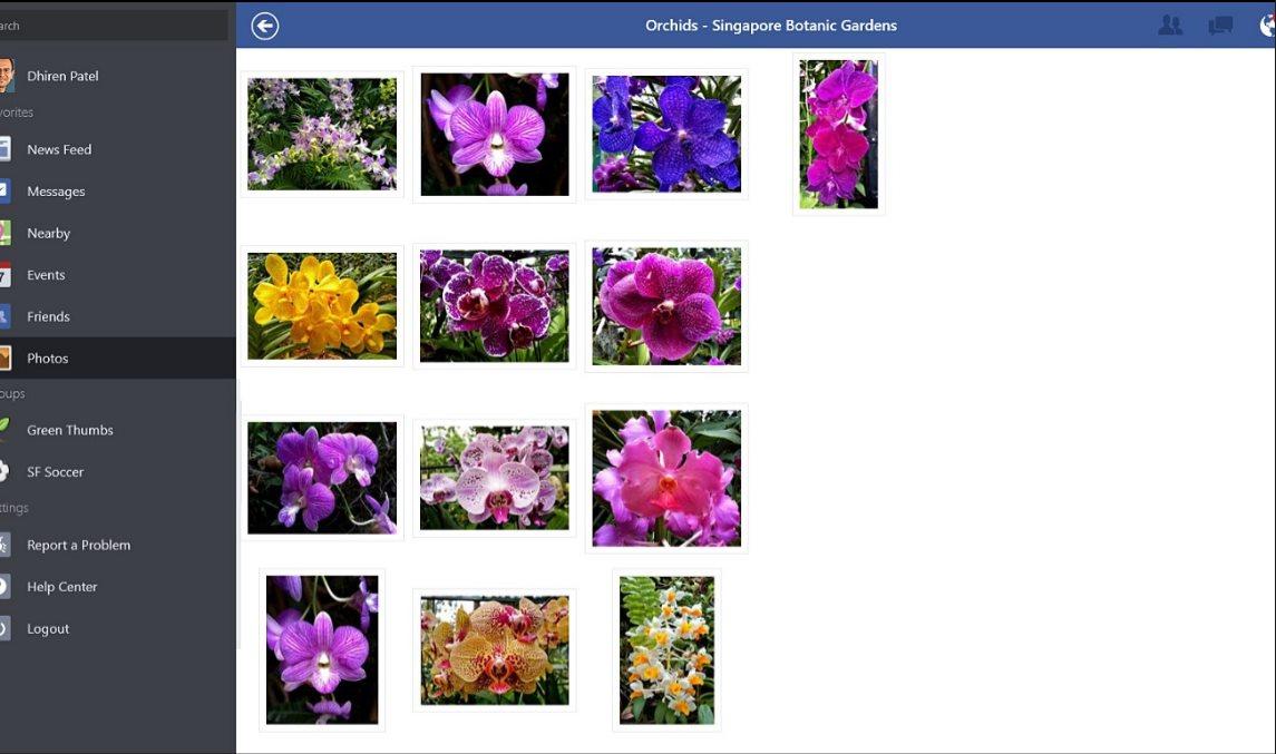 Vorschau Facebook für Windows 8 und 10 App - Bild 2
