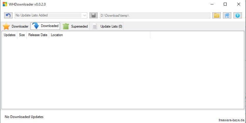 Vorschau WHDownloader der Hotfix Downloader - Bild 2