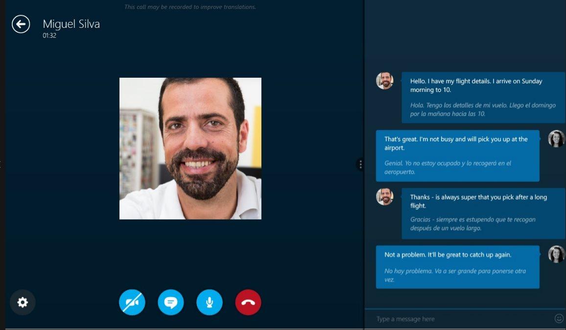 Vorschau Skype Translator fuer Windows 8 und 10 App - Bild 2