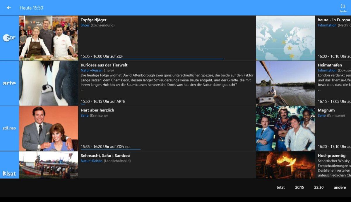 Vorschau TV App Live Fernsehen fuer Windows 8 und 10 App - Bild 2