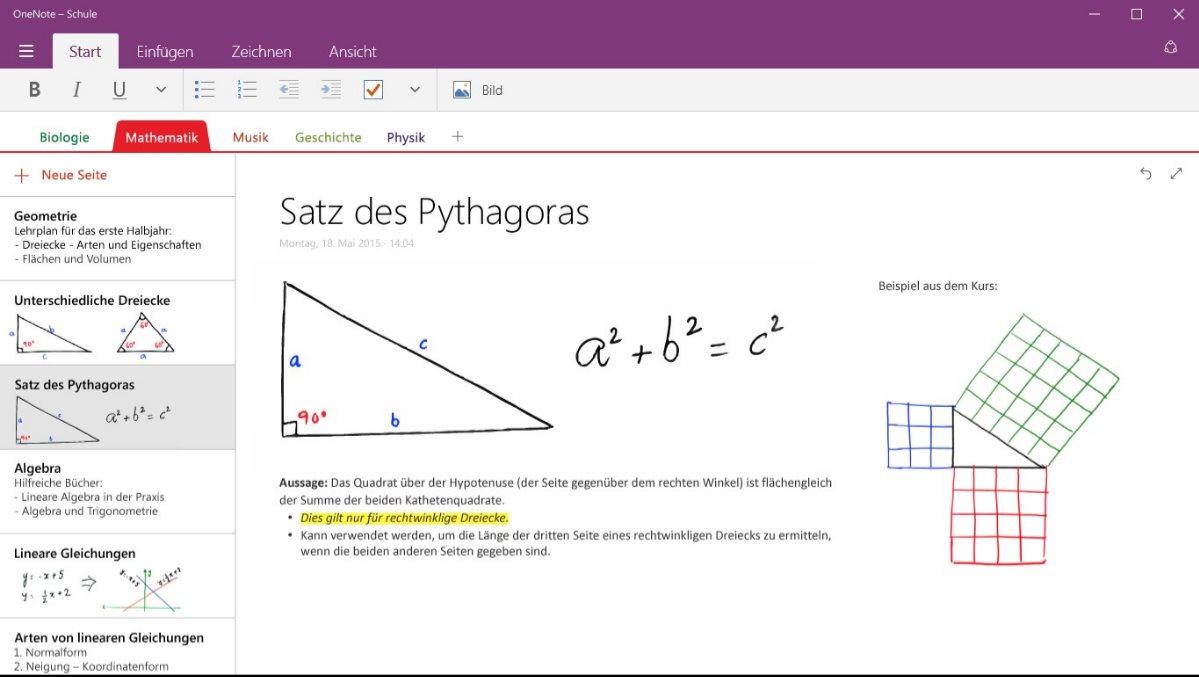 Vorschau OneNote fuer Windows 8 und 10 App - Bild 2