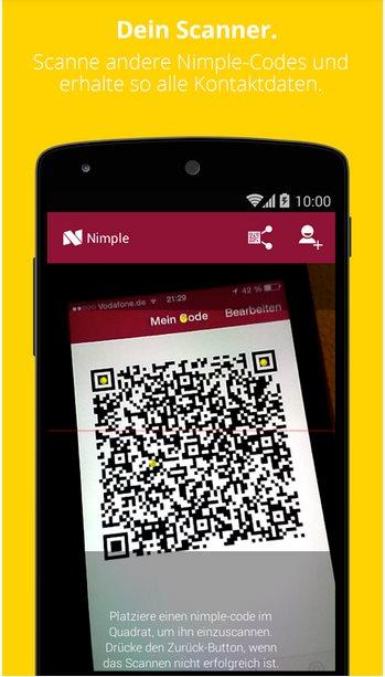 Vorschau Nimple - Networking Simple fuer Android - Bild 2