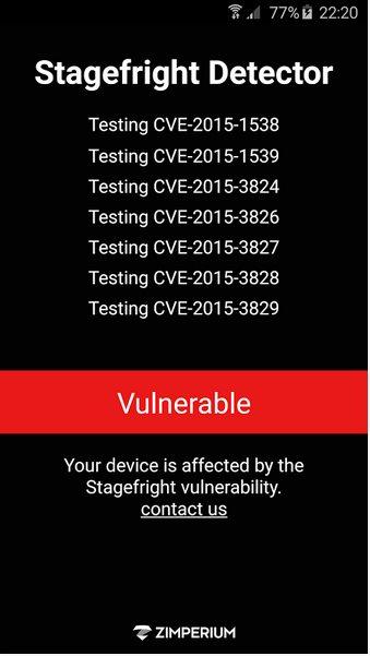 Vorschau Stagefright Detector fuer Android - Bild 2