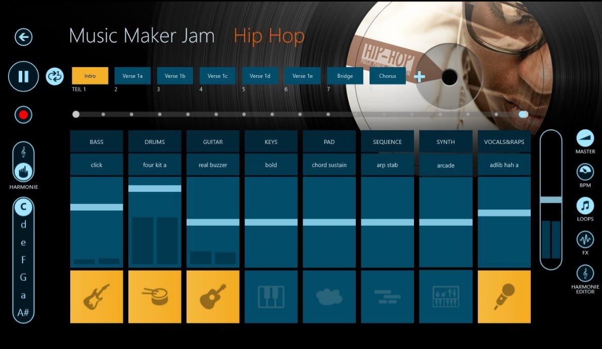 Vorschau Magix Music Maker Jam fuer Windows 8 und 10 App - Bild 2