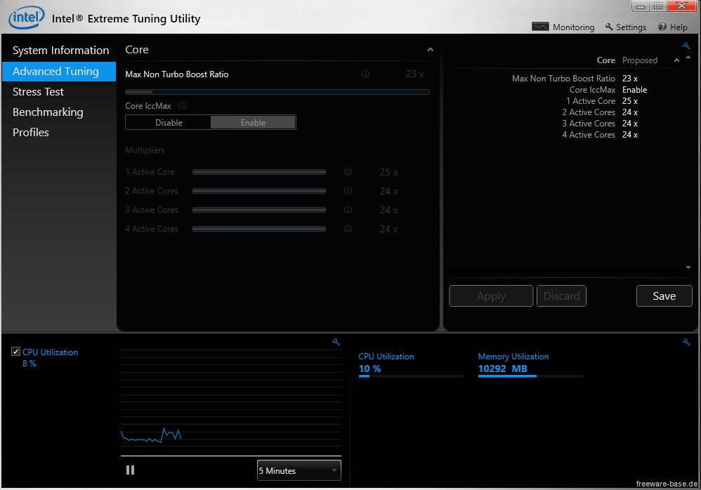 Vorschau Intel Extreme Tuning Utility - Intel XTU - Bild 2
