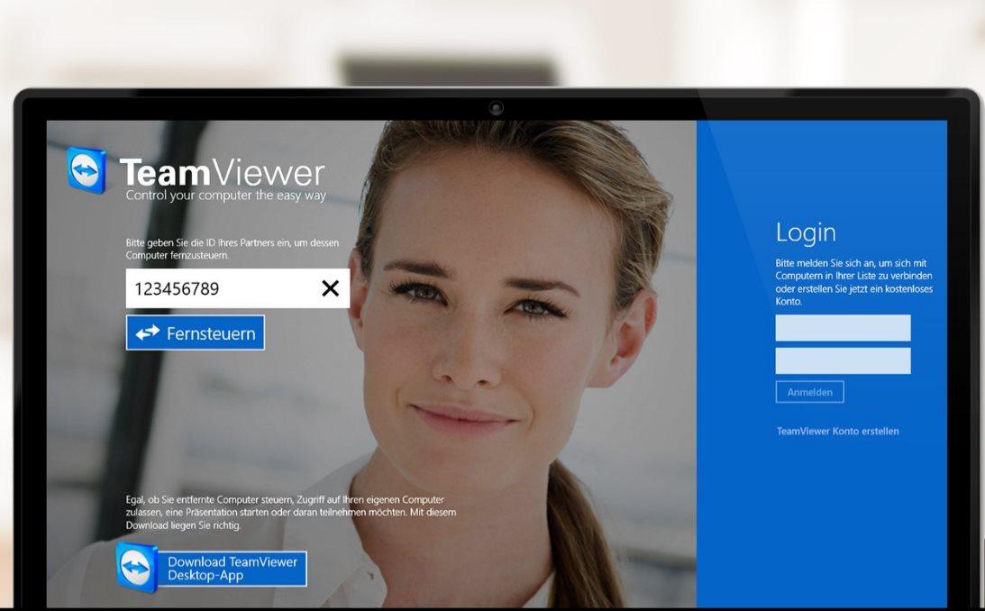 Vorschau TeamViewer Touch fuer Windows 10 App - Bild 2