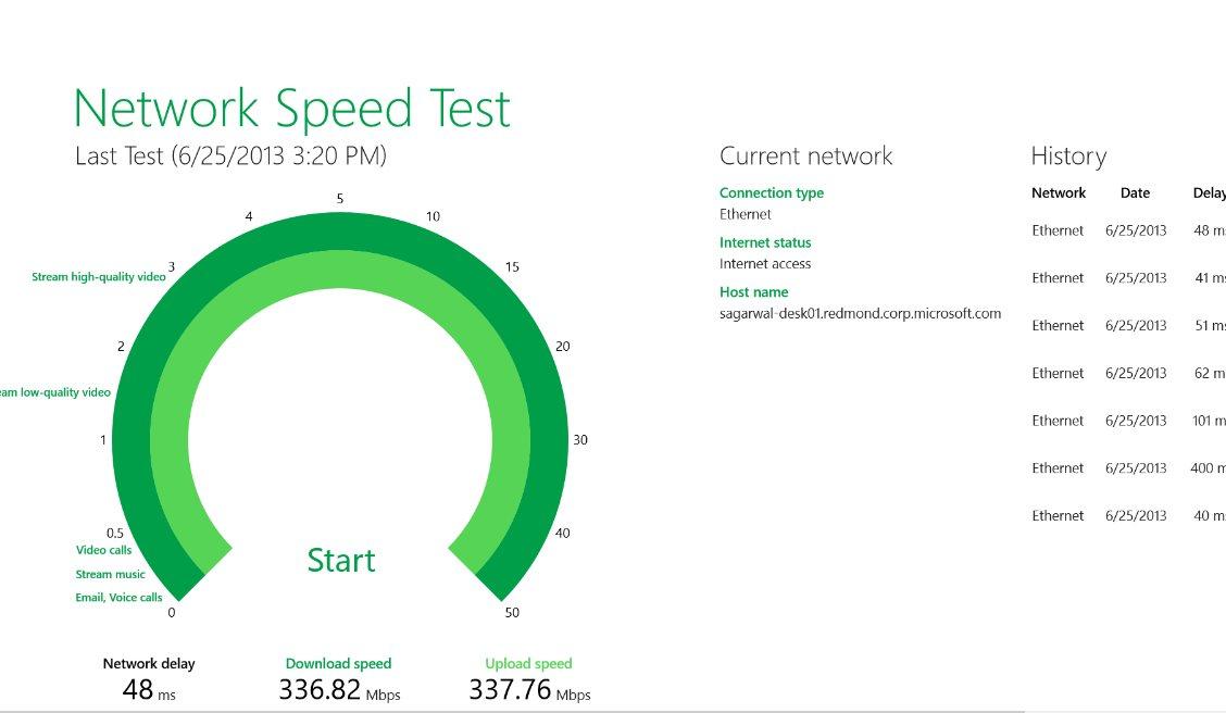 Vorschau Microsoft Network Speed Test fuer Windows 8 und 10 - Bild 2