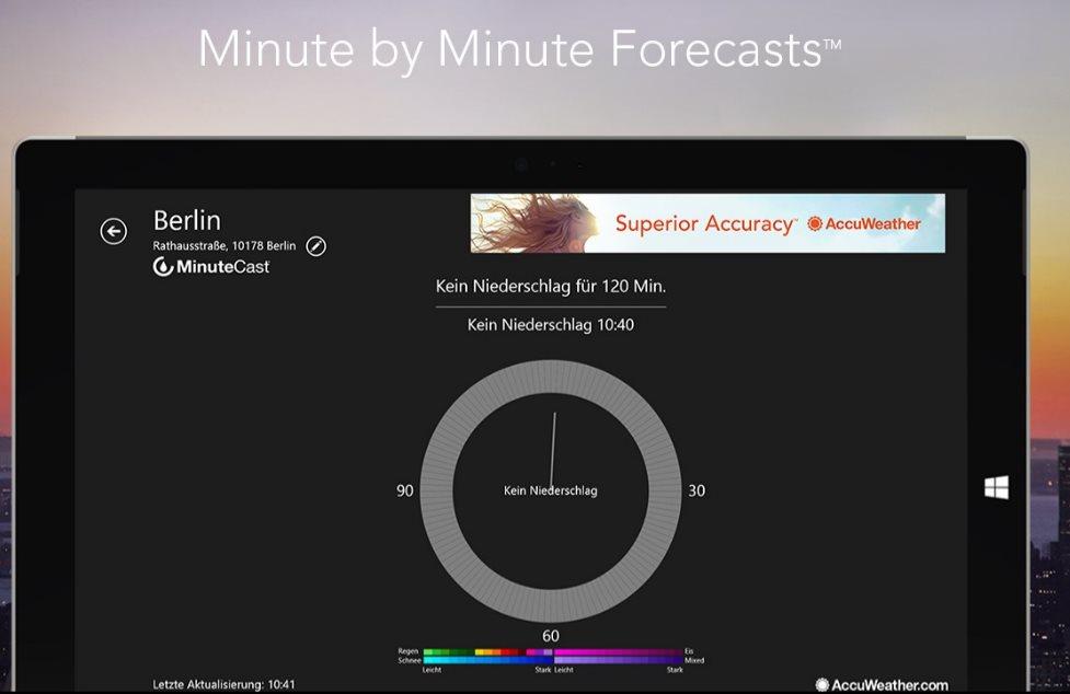 Vorschau AccuWeather für Windows 8 und 10 - Bild 2