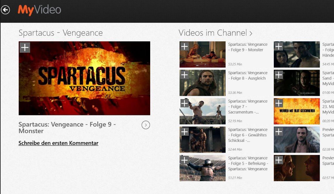 Vorschau MyVideo fuer Windows 8 und 10 - Bild 2