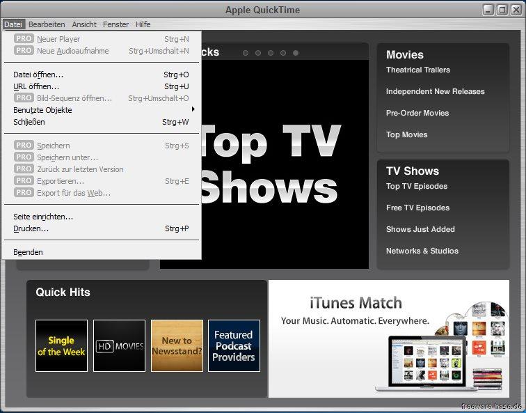 Vorschau Apple QuickTime fuer Win Vista bis Win 10 - Bild 2