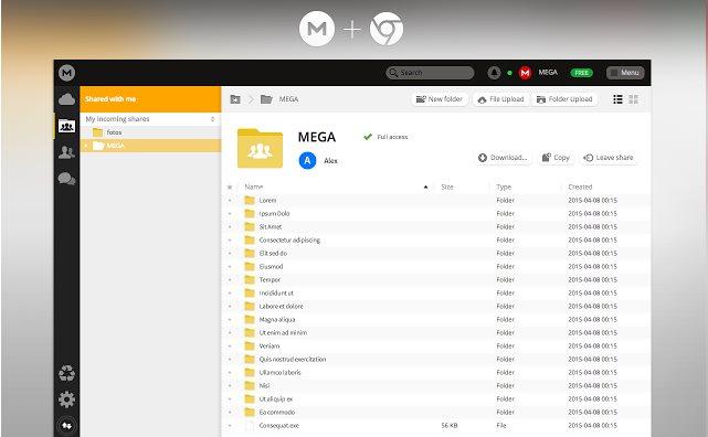 Vorschau Mega für Chrome Browser - Bild 2