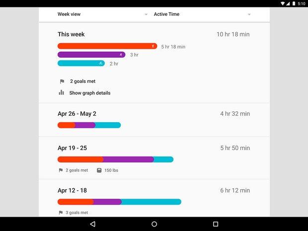 Vorschau Google Fit fuer Android - Bild 2