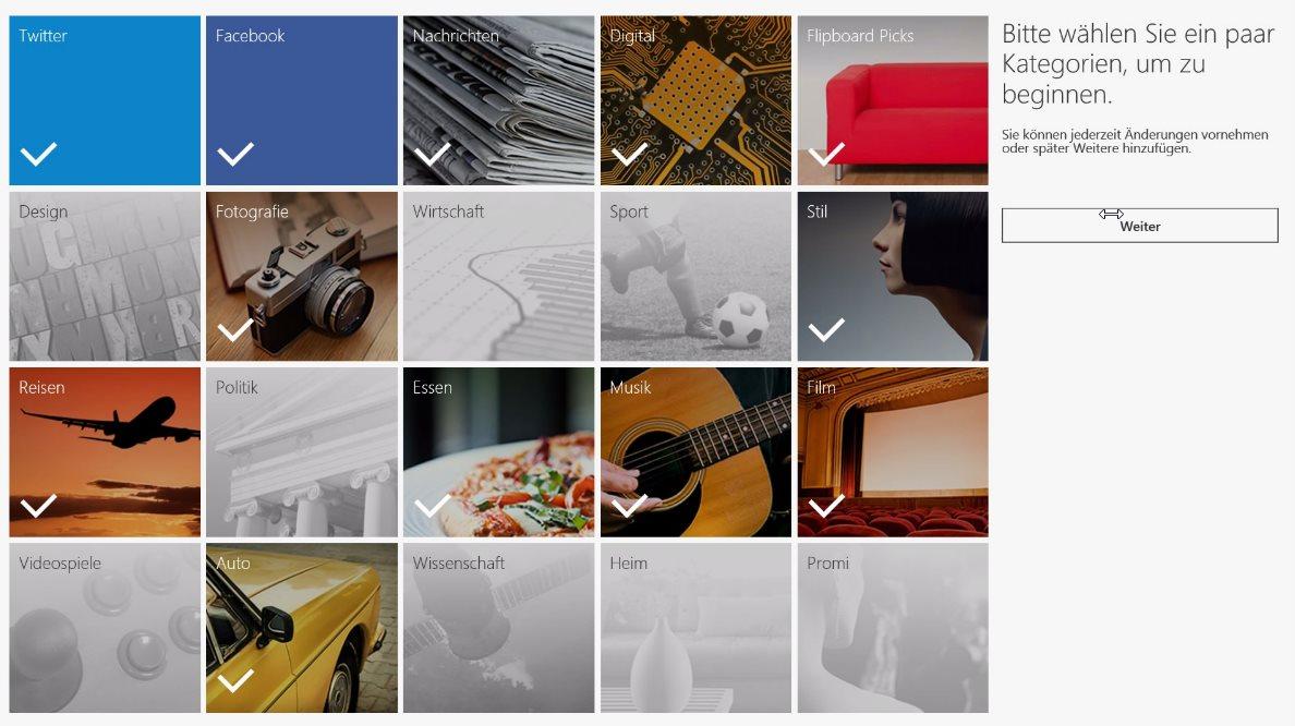 Vorschau Flipboard fuer Windows 8 und 10 - Bild 2