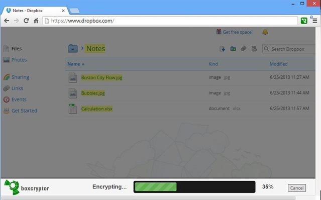 Vorschau BoxCryptor für Chrome - Bild 2