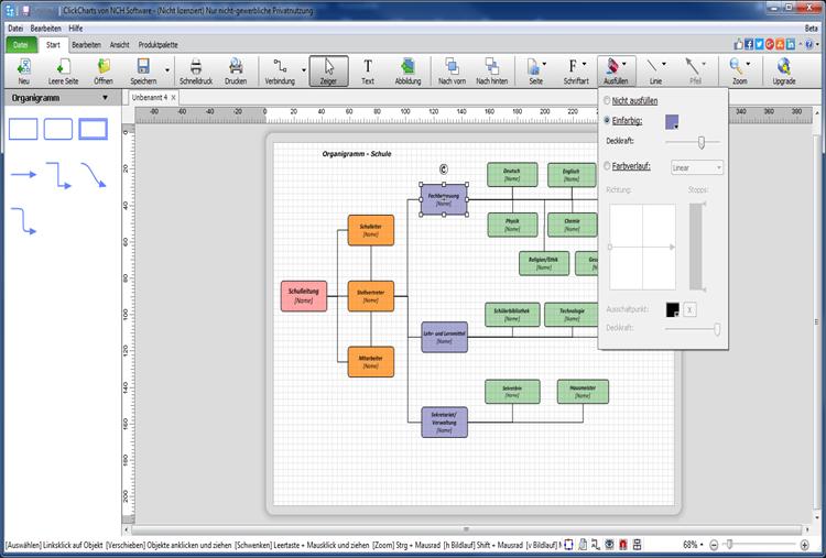 Vorschau ClickCharts Flussdiagrammsoftware - Bild 2