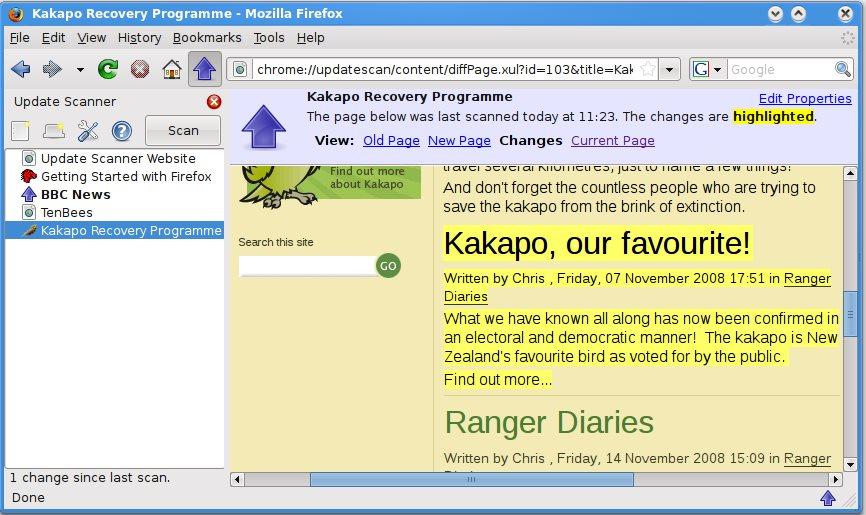 Vorschau Update Scanner für Firefox - Bild 2