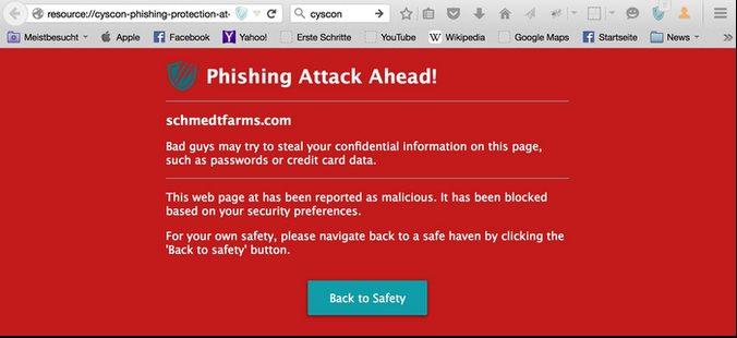 Vorschau Cyscon Security Shield für Firefox - Bild 2