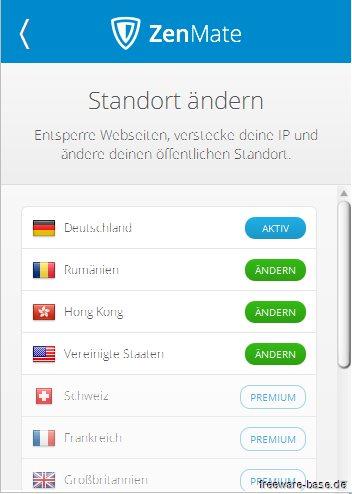 Vorschau ZenMate Security und Privacy VPN für Firefox - Bild 2