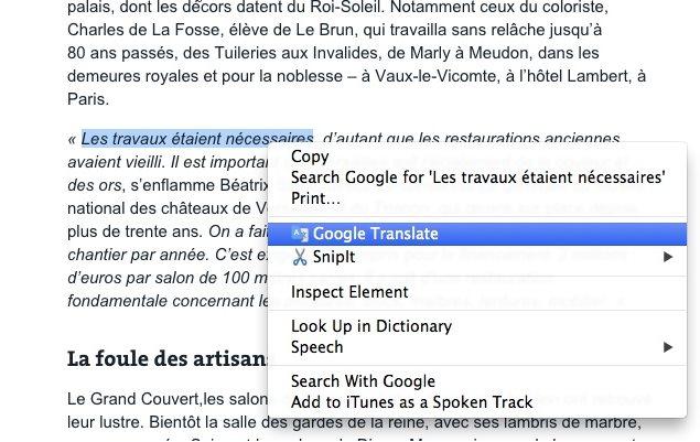 Vorschau Google Translate - Uebersetzer fuer Chrome - Bild 2