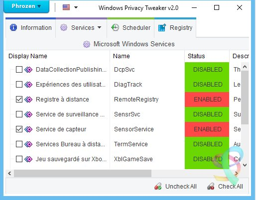 Vorschau Windows Privacy Tweaker - Bild 2