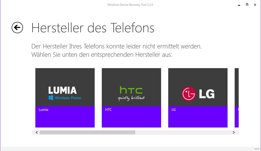 Vorschau Windows Phone Recovery Tool - Bild 2