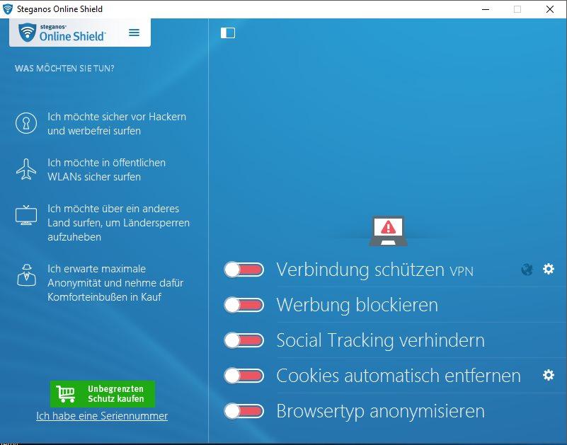 Vorschau Steganos Online Shield VPN - Bild 2