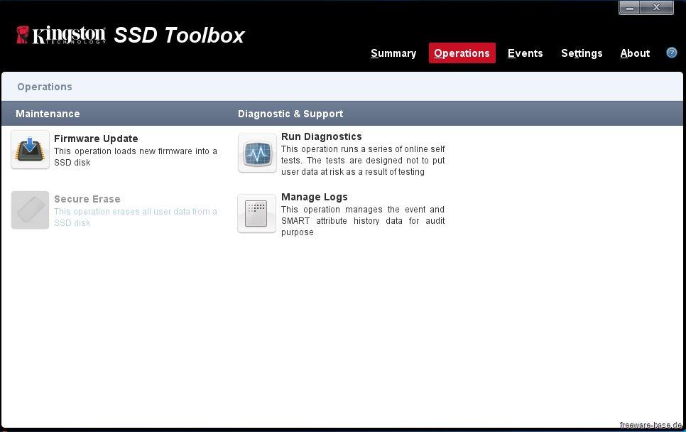 Vorschau Kingston SSD Toolbox - Bild 2