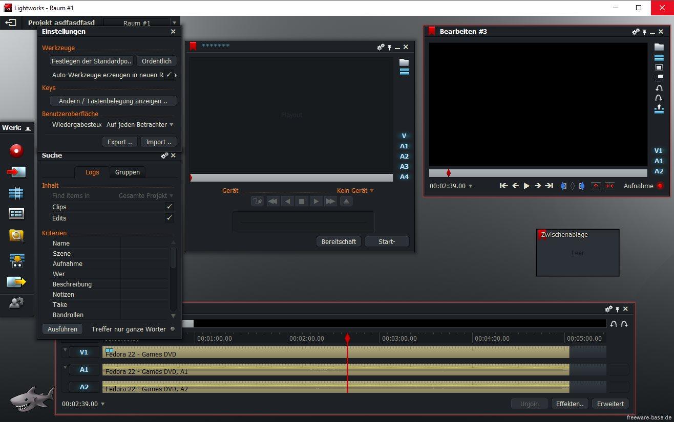 Vorschau Lightworks für Mac - Videobearbeitung - Bild 2