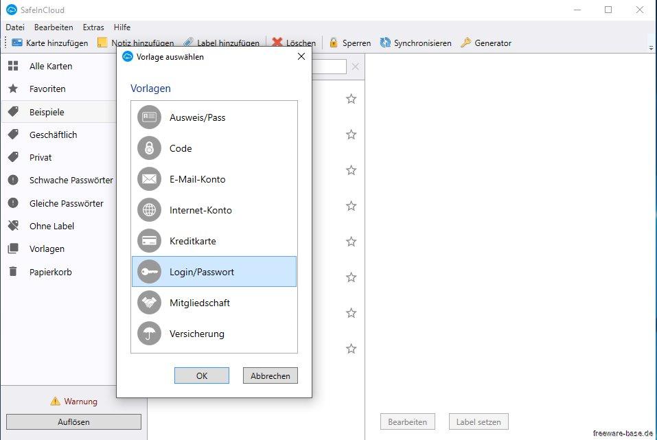 Vorschau SafeInCloud - Passwort Manager - Bild 2